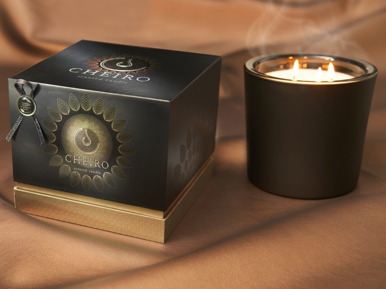 Natural Candles - Desirable and sustainable packaging design innovation for equally special candles.