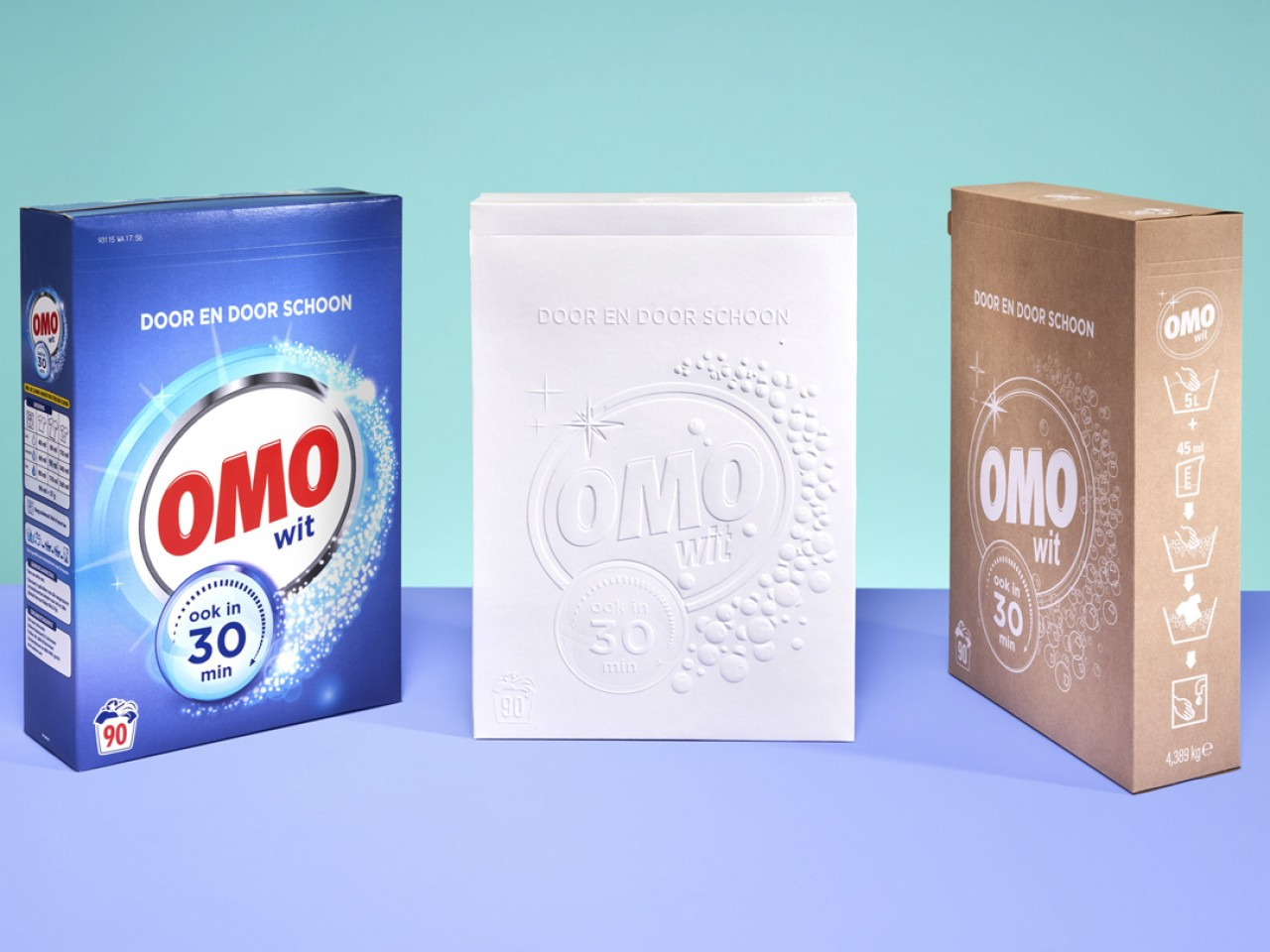 White is the new green - Reducing materials to design eco-friendly and sustainable laundry packaging.