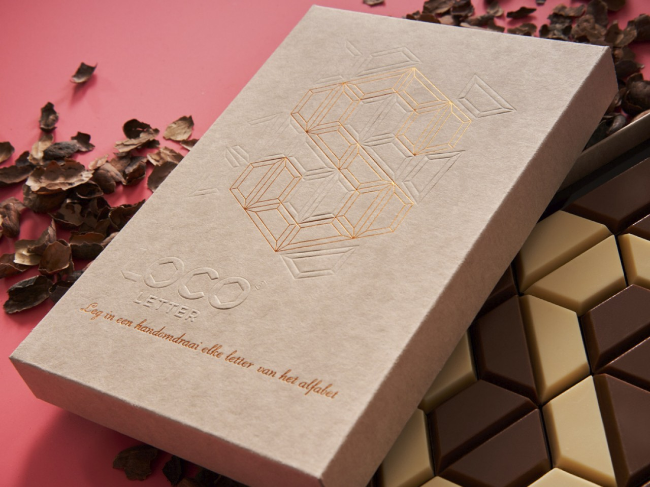 Loco Letter - Utilising waste materials to create a desirable and sustainable packaging design for premium chocolate.